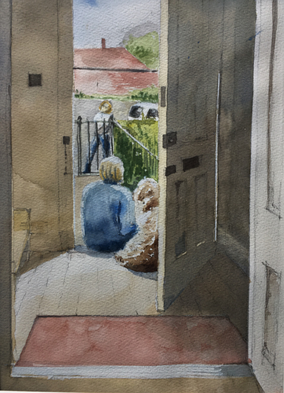 At Home, watercolour