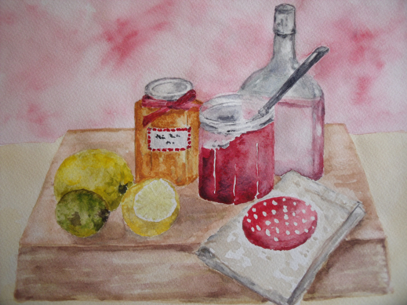 Home Preserving, watercolour