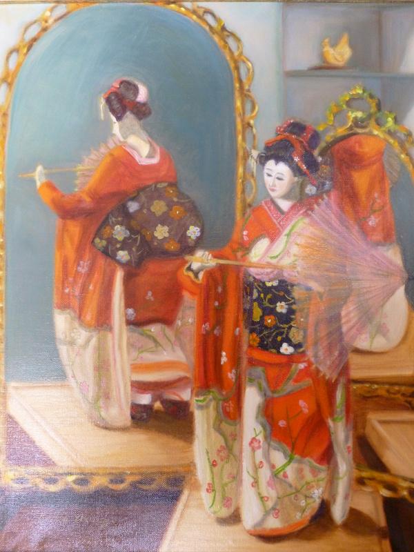 Japanese Doll, oil