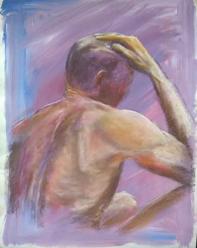 Upon Reflection, pastel