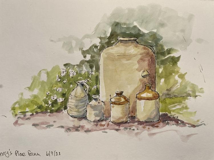 Jane Few, Pots at Berry's Place Farm